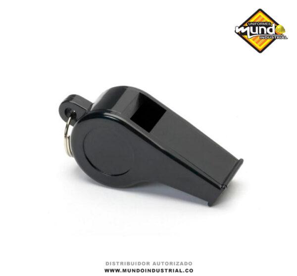 Silbato Plástico Negro de emergencia