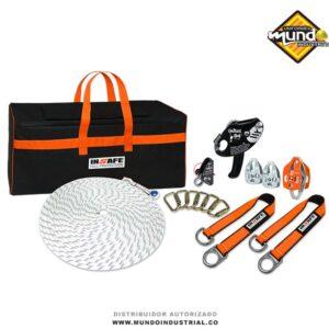 kit de rescate industrial para trabajo vertical y espacios confinados